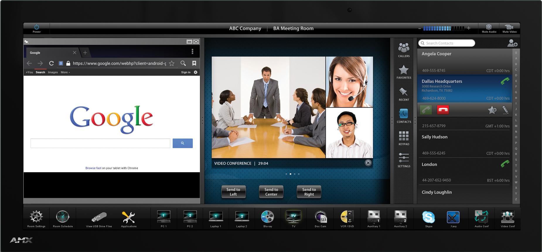 "AMX MXD-2001-PAN-L touch screen monitor 51.6 cm (20.3"") 1920 x 800 pixels Black"