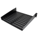 StarTech.com 2U 16in Universal Vented Rack Mount Cantilever Shelf - Fixed Server Rack Cabinet Shelf - 50lbs / 22kg CABSHELFV