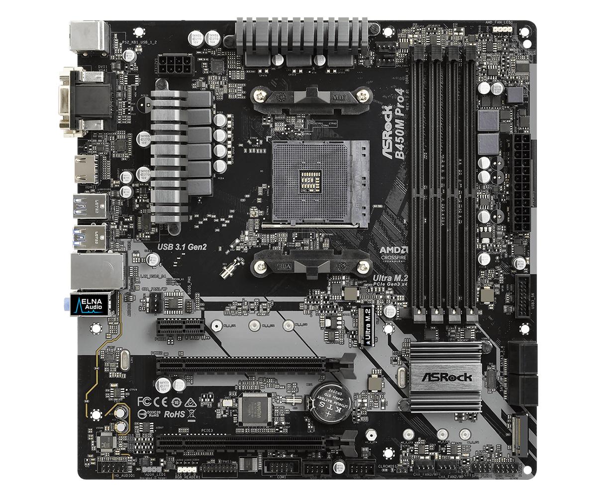 Asrock B450M Pro4 Zócalo AM4 micro ATX AMD B450