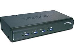 Trendnet TK-423K 4-Port USB / PS/2 KVM Switch Kit w/ Audio interruptor KVM
