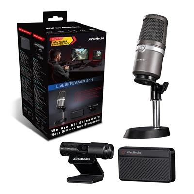 AVerMedia BO311 Live Streamer 311 Full Streaming Starter Kit (Webcam, Mic and Capture Device)
