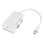 Cables Direct HDMINIDP-HDV02 Mini DisplayPort HDMI/DVI/DP White cable interface/gender adapter