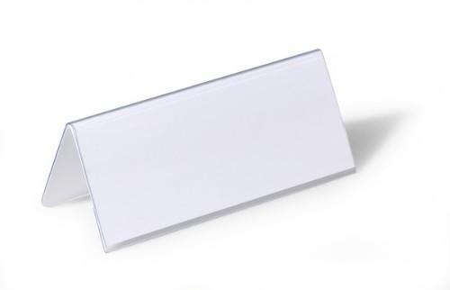 Durable 8050 sign holder/information stand Transparent