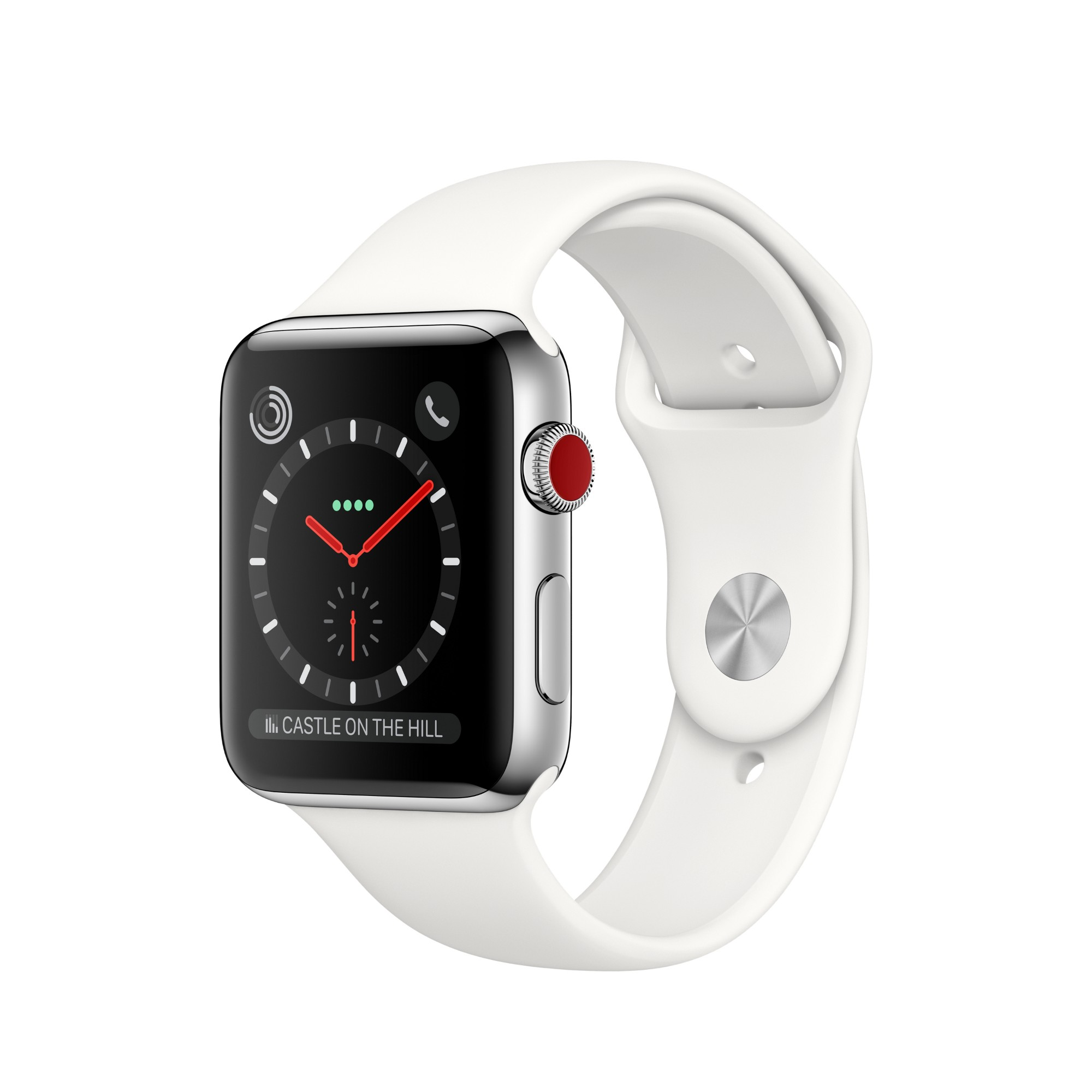 Watch Series 3 (gps + Cellular) - 42 Mm - Stainless Steel - Smart Watch With Sport Band (MQLY2B/A)