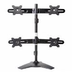 "Amer AMR4S flat panel desk mount 61 cm (24"") Freestanding Black"