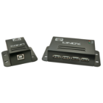 Lindy 42681 Network transmitter & receiver Black