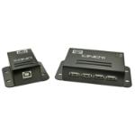 Lindy 42681 network extender Network transmitter & receiver Black
