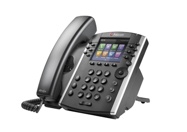 Polycom VVX 410 IP phone Black Wired handset LCD 12 lines Wi-Fi