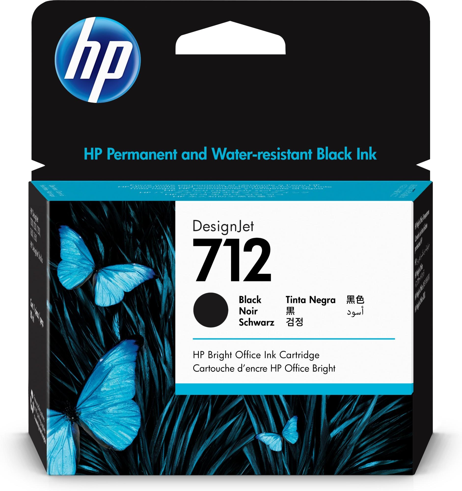 HP 712 Original Negro 1 pieza(s) Alto rendimiento (XL)