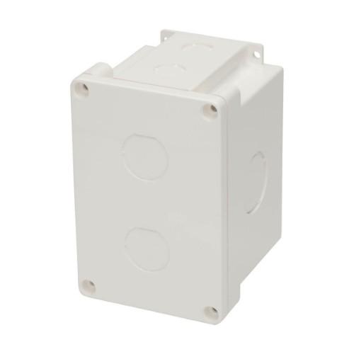 Tripp Lite Waterproof Electrical Junction Box - Cat5e/6, Surface Mount, Industrial, Single Gang, IP67, 2 Cutouts