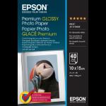 Epson Premium Glossy Photo Paper - 10x15cm - 40 Sheets