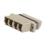Cablenet LC Quad MM Coupler Beige