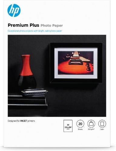 HP Premium Plus Semi-gloss Photo Paper-20 sht/A4/210 x 297 mm