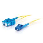 C2G 85590 7m LC SC OFNR Yellow fiber optic cable