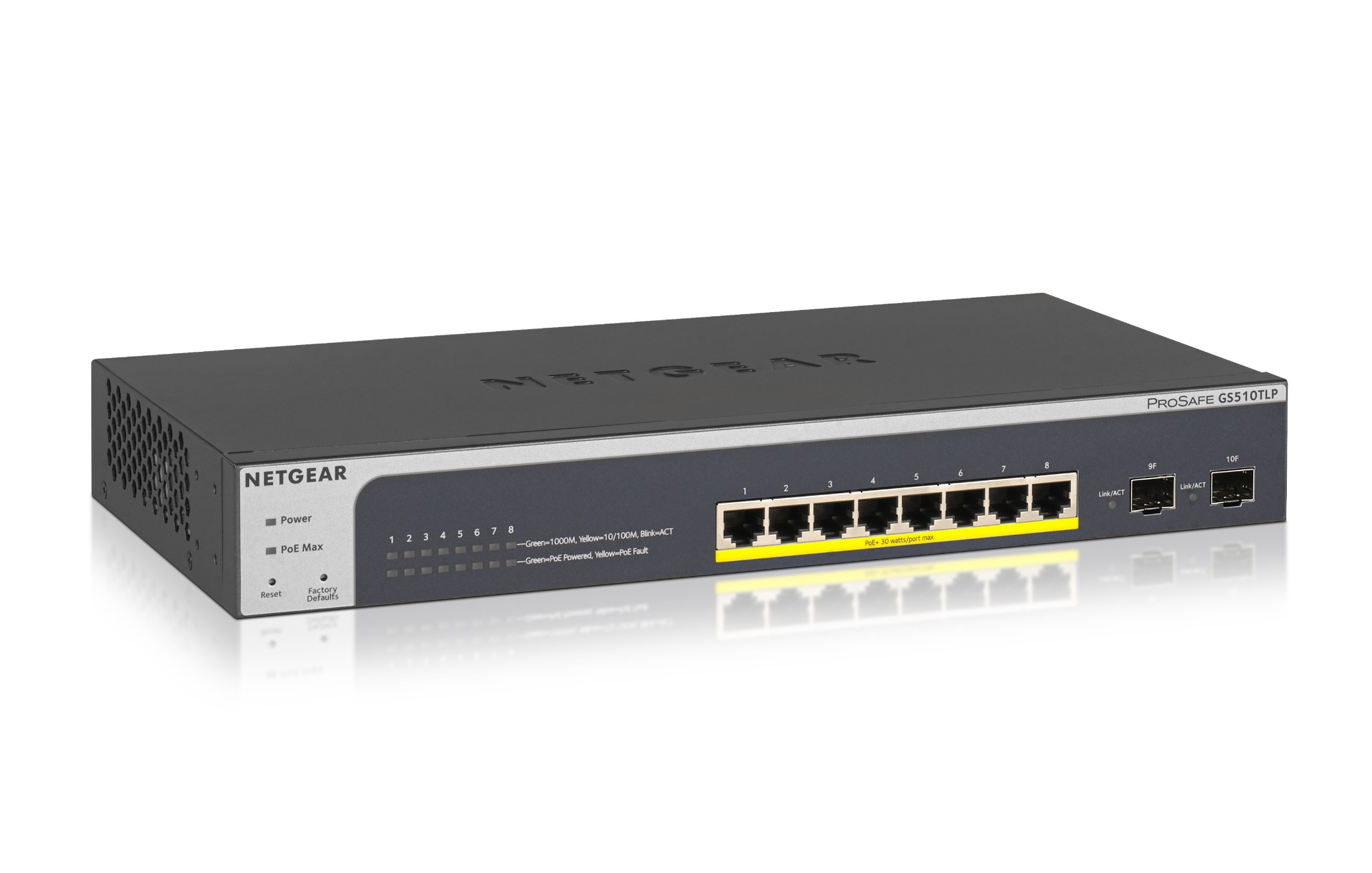 Netgear GS510TLP Managed L2/L3/L4 Gigabit Ethernet (10/100/1000) Power over Ethernet (PoE) Black