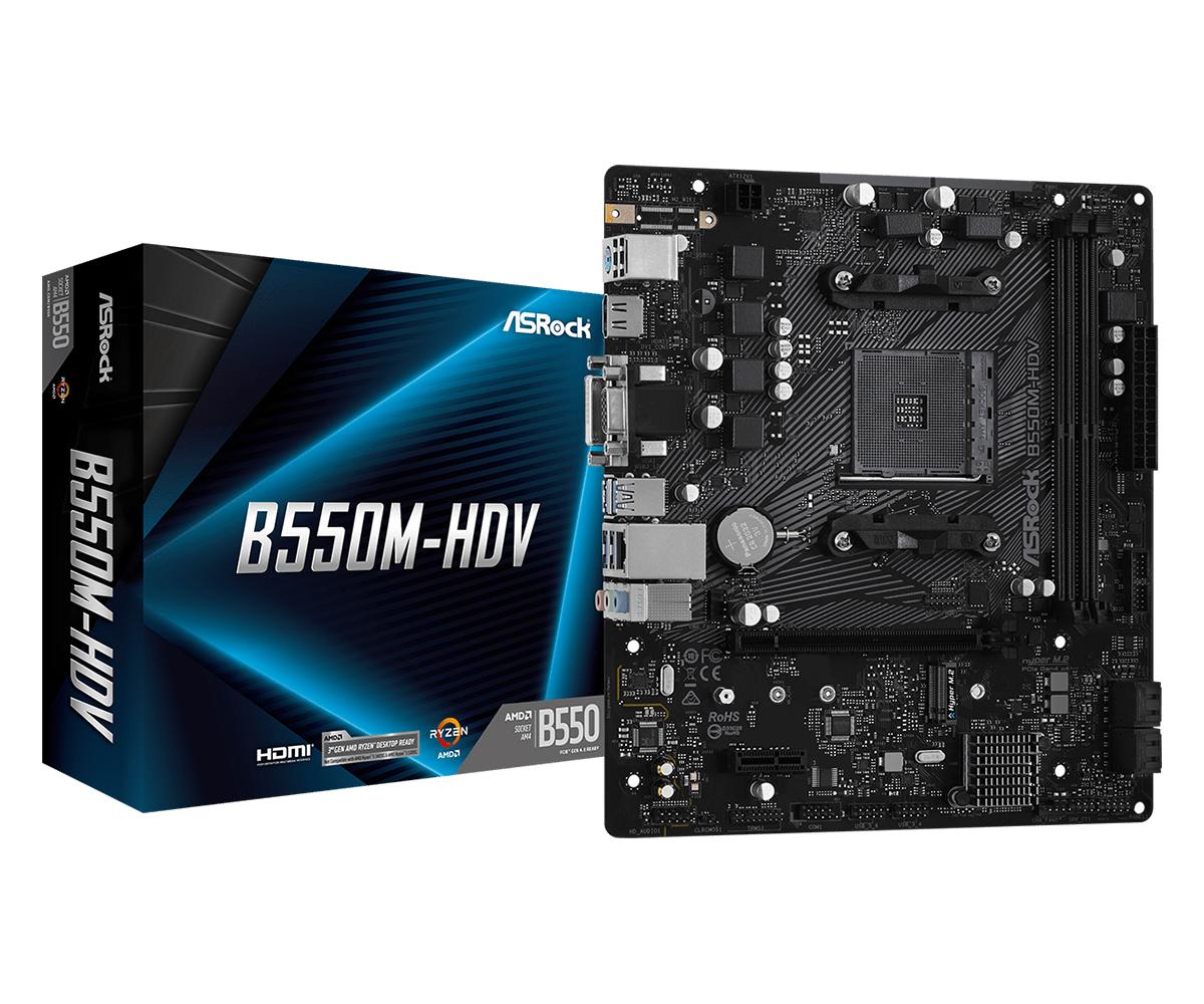 Asrock B550M-HDV Socket AM4 micro ATX AMD B550