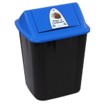 ITALPLAST WASTE SEPARATION BIN ITALPLAST 32L PAPER AND CARDBOARD(EACH)