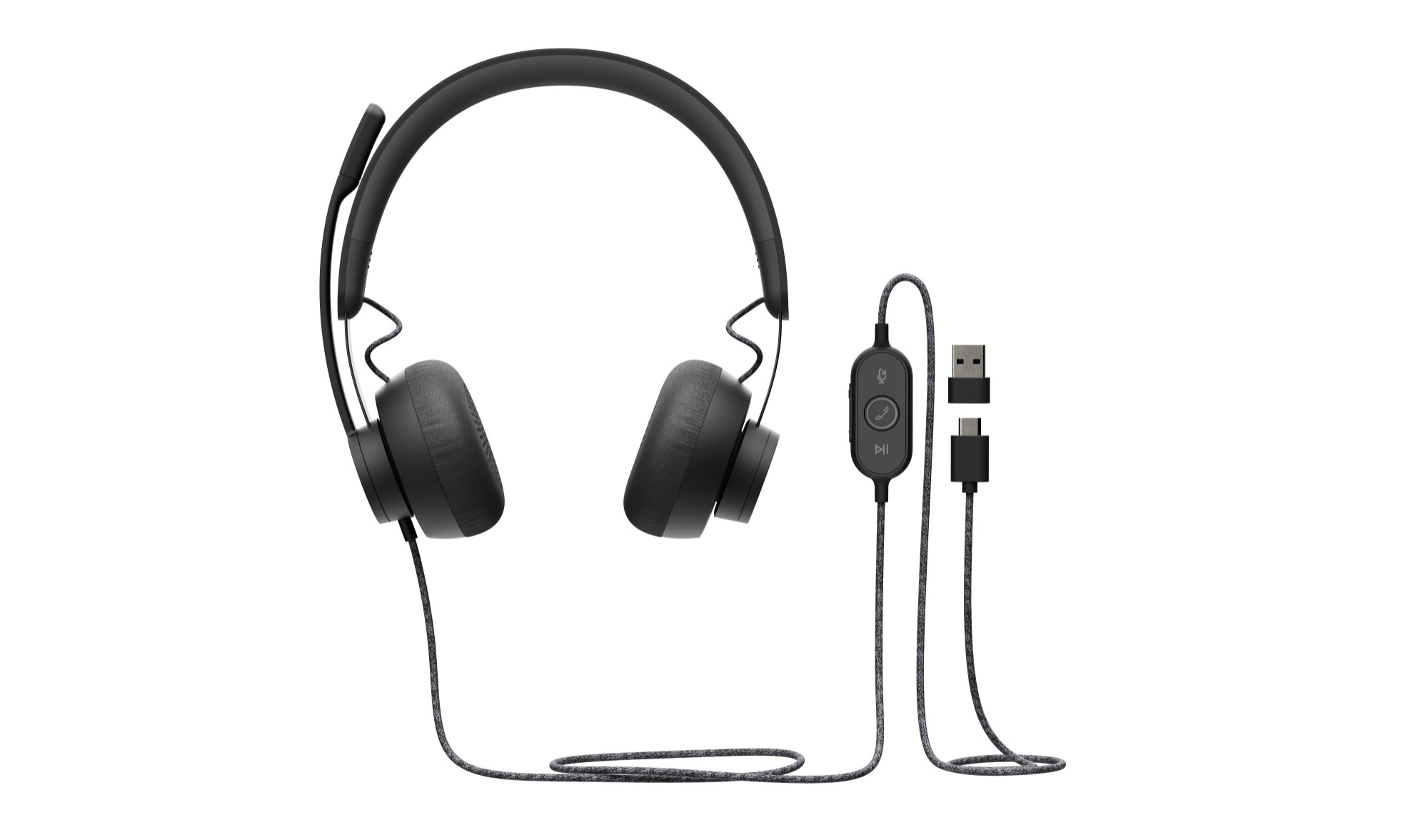Logitech Zone Wired UC Auriculares Diadema Negro