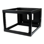 StarTech.com RK619WALLOH rack cabinet 6U Wall mounted rack Black