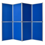 Bi-Office 6 Panel Display Kit Blue