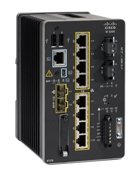 Cisco Catalyst IE-3200-8T2S-E network switch Managed L2/L3 Gigabit Ethernet (10/100/1000) Black