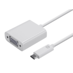 Monoprice 12910 cable interface/gender adapter USB-C VGA White