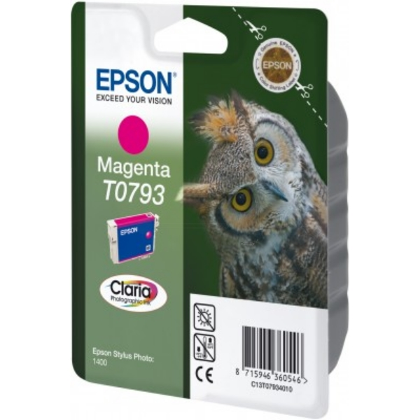 Epson C13T07934020 (T0793) Ink cartridge magenta, 420 pages, 11ml