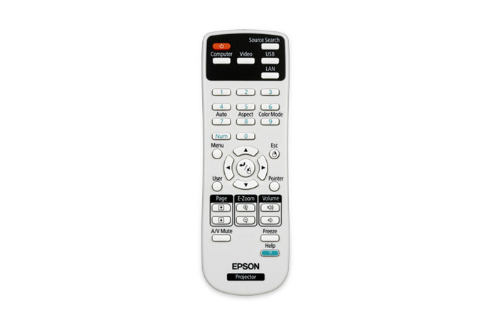 Epson 1547200 Press buttons Black,Grey,White remote control