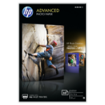 HP Advanced Glossy Photo Paper pak fotopapier Zwart, Blauw, Wit Glans