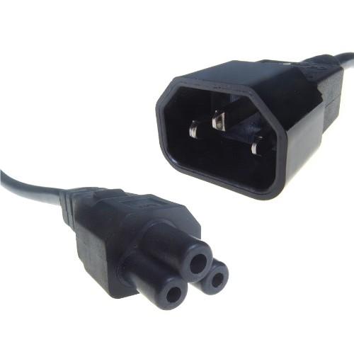 Connekt Gear 15cm IEC C14 / C5 power cable Black 0.15 m C14 coupler C5 coupler