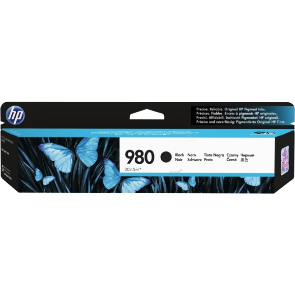 HP D8J10A (980) Ink cartridge black, 10K pages, 204ml