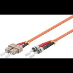 Microconnect FIB1200005 0.5m SC/UPC ST/UPC Orange fiber optic cable
