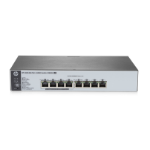 Hewlett Packard Enterprise 1820-8G-PoE+ (65W) Managed L2 Gigabit Ethernet (10/100/1000) Grey 1U Power over Ethernet (PoE)