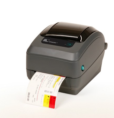 Zebra GX430t labelprinter Thermo transfer 300 x 300 DPI Bedraad