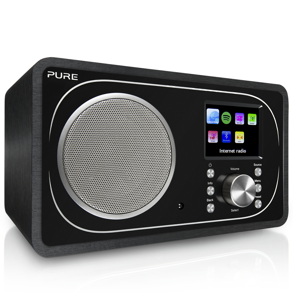 Pure Evoke F3 radio Internet Analog & digital Black