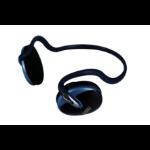 Perfect Choice Audifono Diadema con Banda para Cuello Biauricular Alámbrico Negro, Azul auricular para móvil