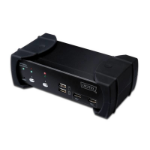 Digitus DVI-Audio-USB, 2-port Black KVM switch