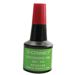 Q-CONNECT Q CONNECT ENDORSING INK 28ML RED
