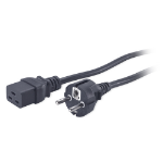 APC AP9875 power cable Black 2.5 m C19 coupler CEE7/7