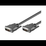 Microconnect 1m DVI-D M/M DVI cable Black