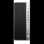 HP EliteDesk 800 G4 8th gen Intel® Core™ i5 i5-8500 8 GB DDR4-SDRAM 256 GB SSD Black,Silver Tower PC