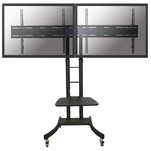 "Newstar Mobile Dual LFD/Monitor/TV Trolley for two 32""-70"" Screens, Height Adjustable - Black"