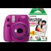 Fujifilm Instax Mini 9 Clear Purple Instant Camera inc 30 Shots