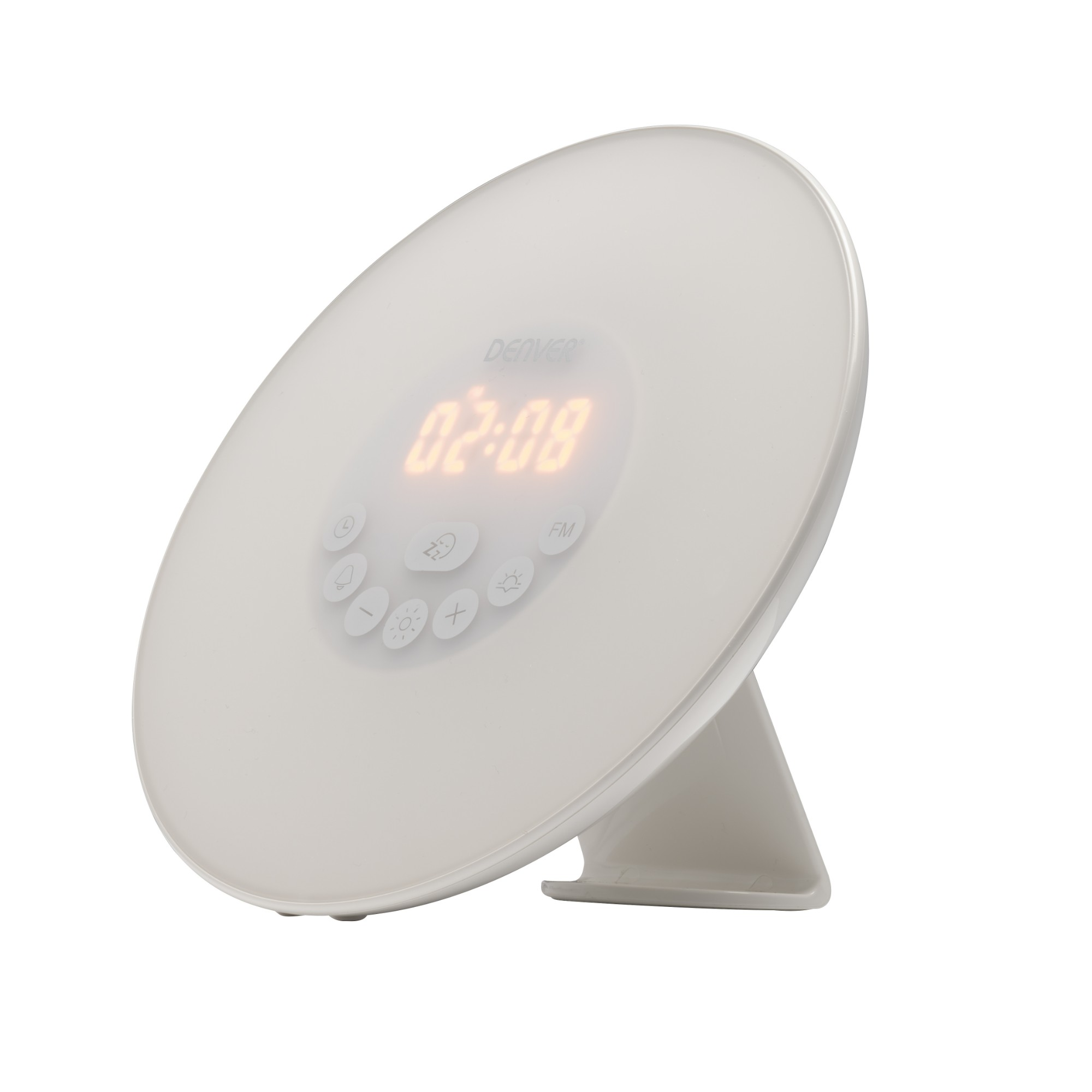 Denver Electronics CRL-330 Clock Digital White radio