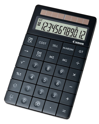 Canon XMARK1BK STYLISH BLACK DESKTOP TAX/MARGIN FUNCTION, EDGE TO EDGE BUTTONS, SMOOTH BASE