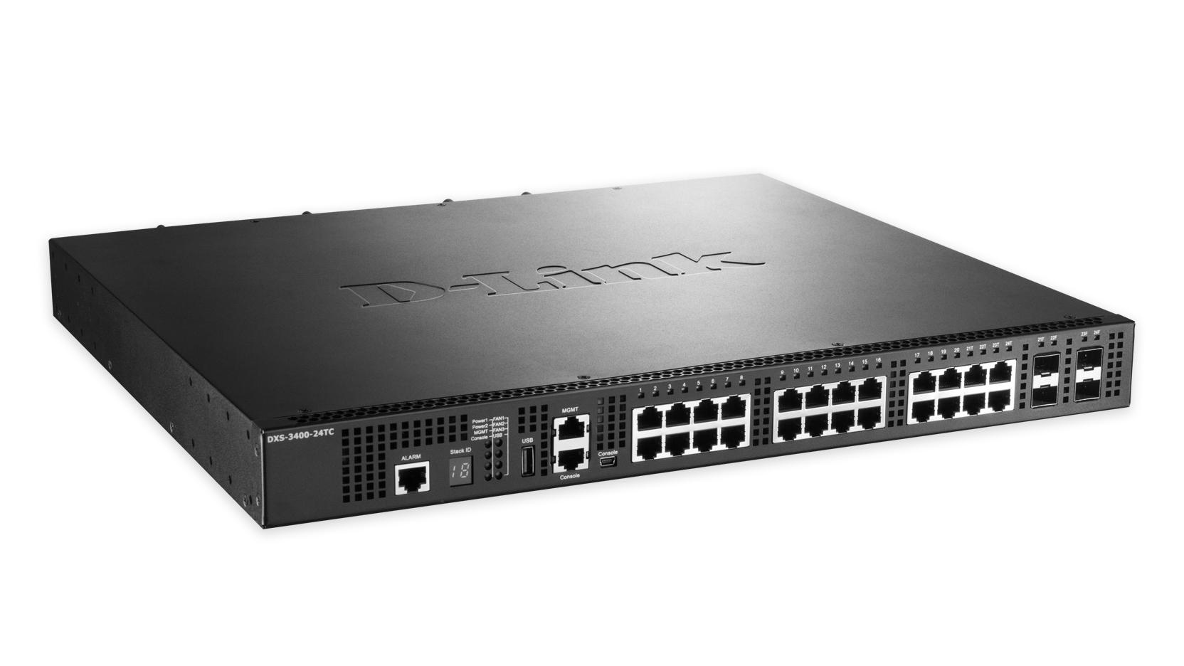 D-Link DXS-3400-24TC Managed L3 Gigabit Ethernet (10/100/1000) Black network switch