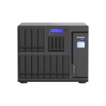 QNAP TVS-h1688X NAS Tower Ethernet LAN Black W-1250 TVS-H1688X-W1250-32G/72TB-EXOS