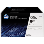 HP CE505D (05A) Toner black, 2.3K pages, Pack qty 2