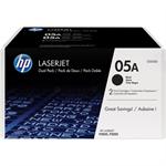 HP CE505D (05A) Toner black, 2.3K pages, Pack qty 2