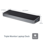 StarTech.com Triple-Monitor USB 3.0 Docking Station - 1x HDMI - 2x DisplayPort